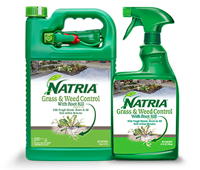 Natria Grass And Weed Control With Root Kill - Alternative Grass And Weed Killer. Weed killer for lawn.